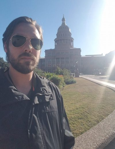 Nathan Goodfellow working at the Capitol